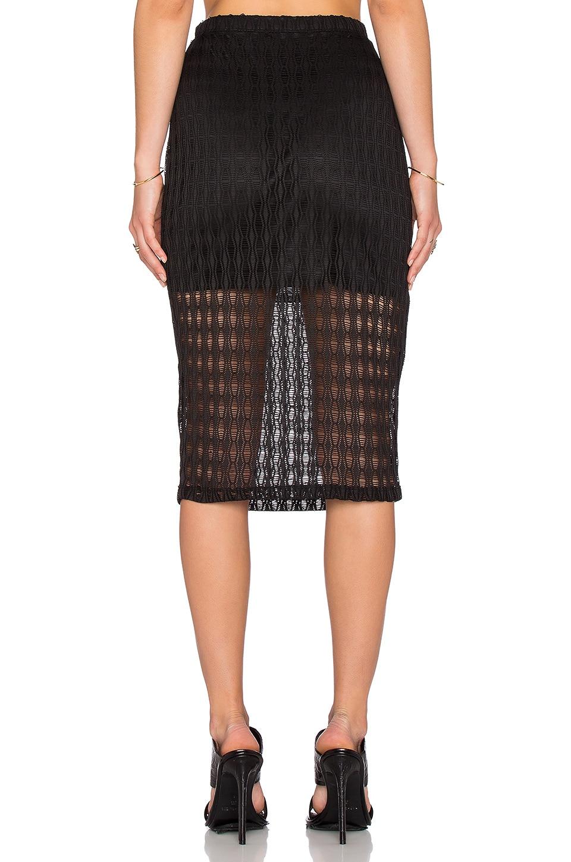 wayf crochet pencil skirt in black
