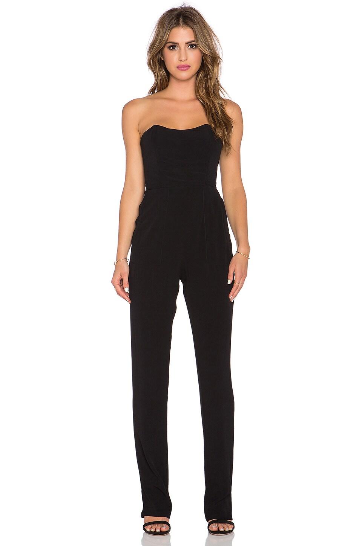 WAYF Strapless Jumpsuit in Black