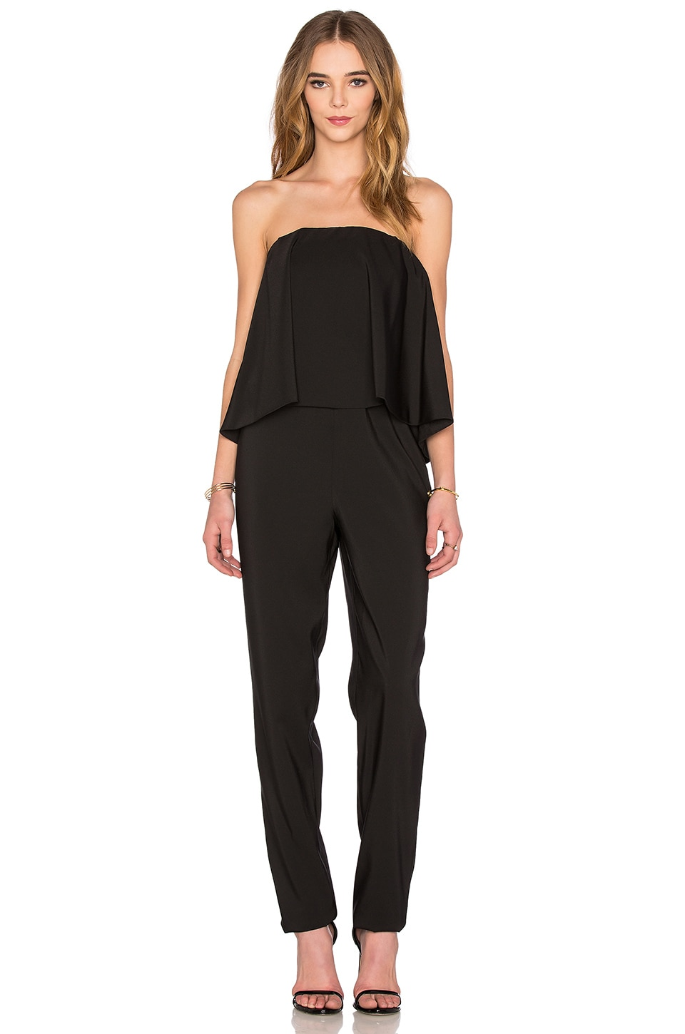 WAYF Strapless Jumpsuit in Black