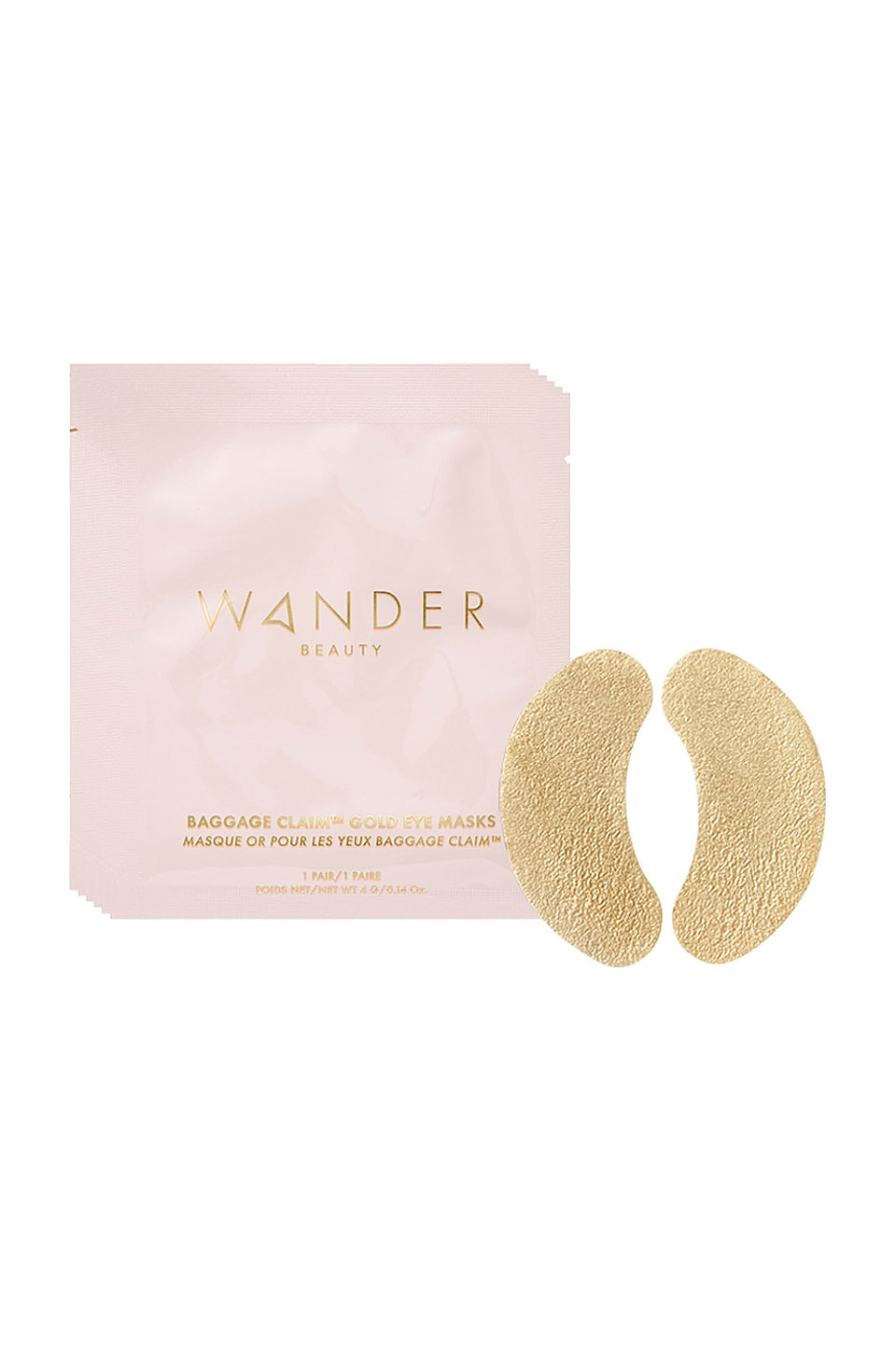 Wander Beauty Baggage Claim Gold Eye Mask 6 Pack