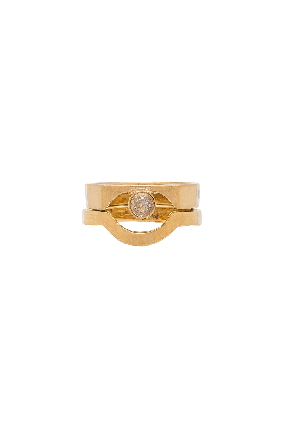 WOLF CIRCUS Pave Ring in 14K Gold Plated