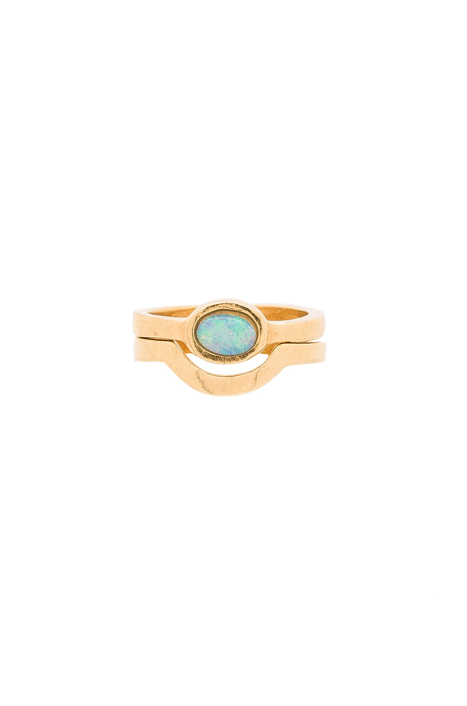 WOLF CIRCUS Opal Ring in 14K Gold Plated