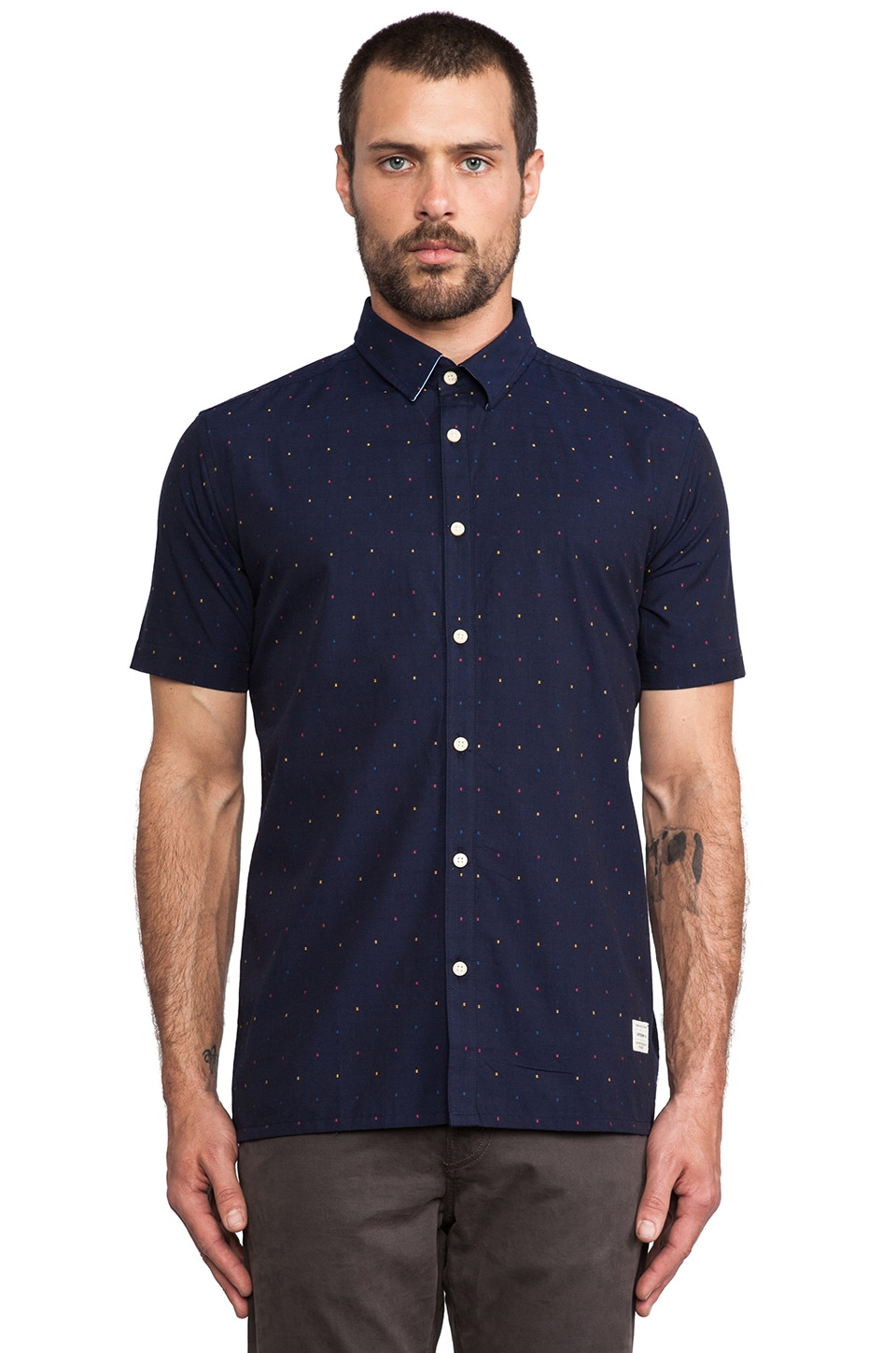 Weekend Offender Epsom Shirt in Navy