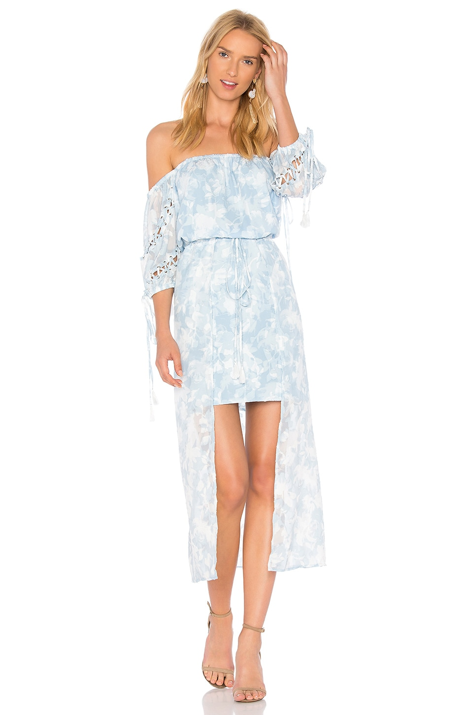 Morning Frost Off Shoulder Dress by We Are Kindred