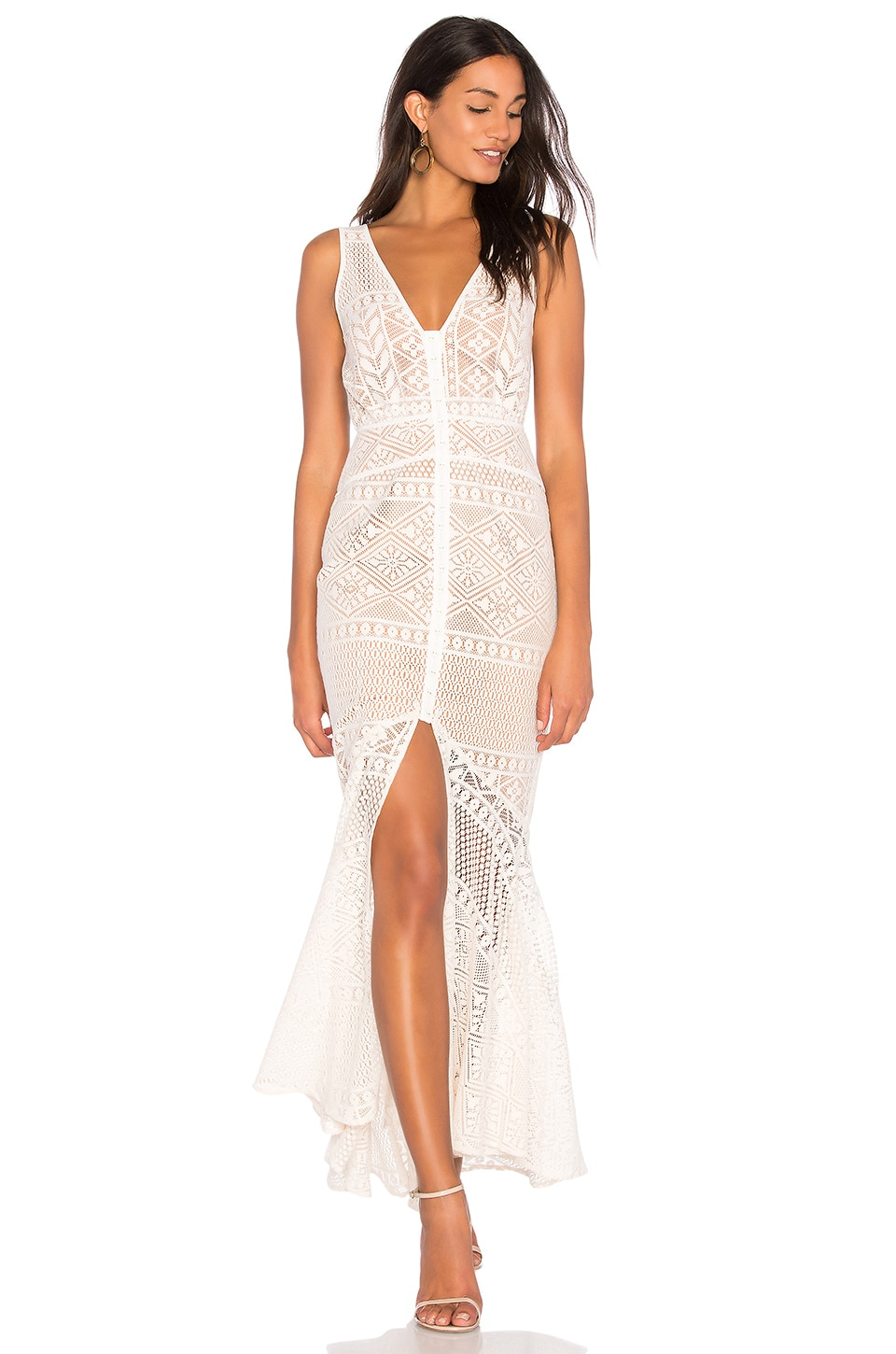 We Are Kindred Darling Dahlia Maxi Dress in Ivory