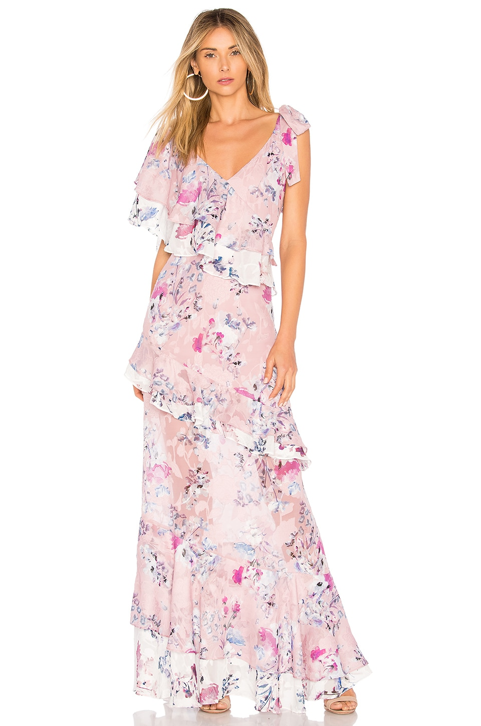 Alessandra Ruffle Maxi by We Are Kindred