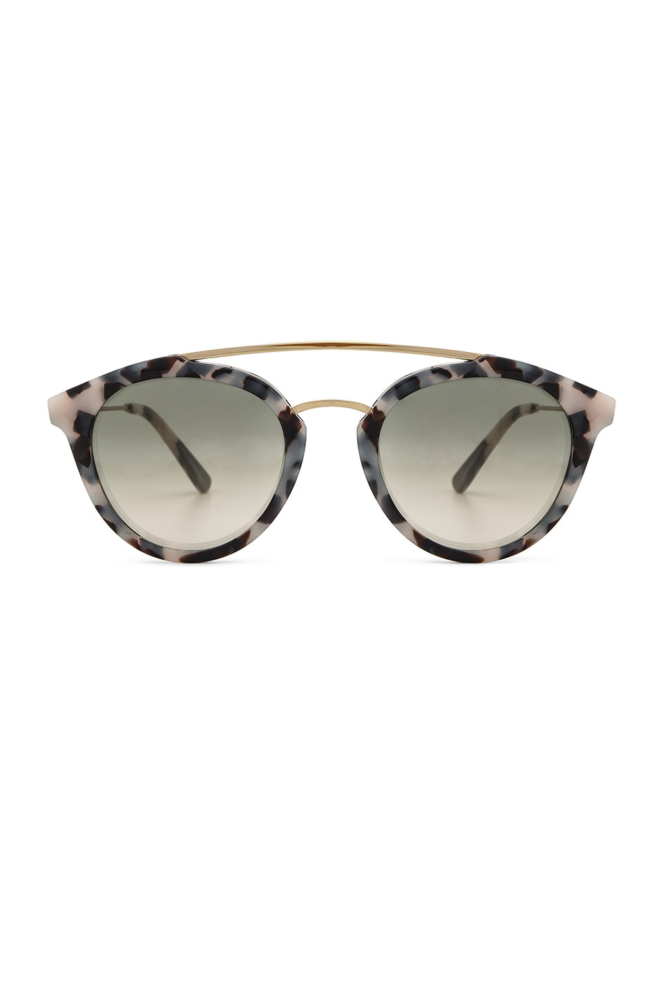 WESTWARD LEANING Double Bridge Sunglasses in Snow Leopard Acetate