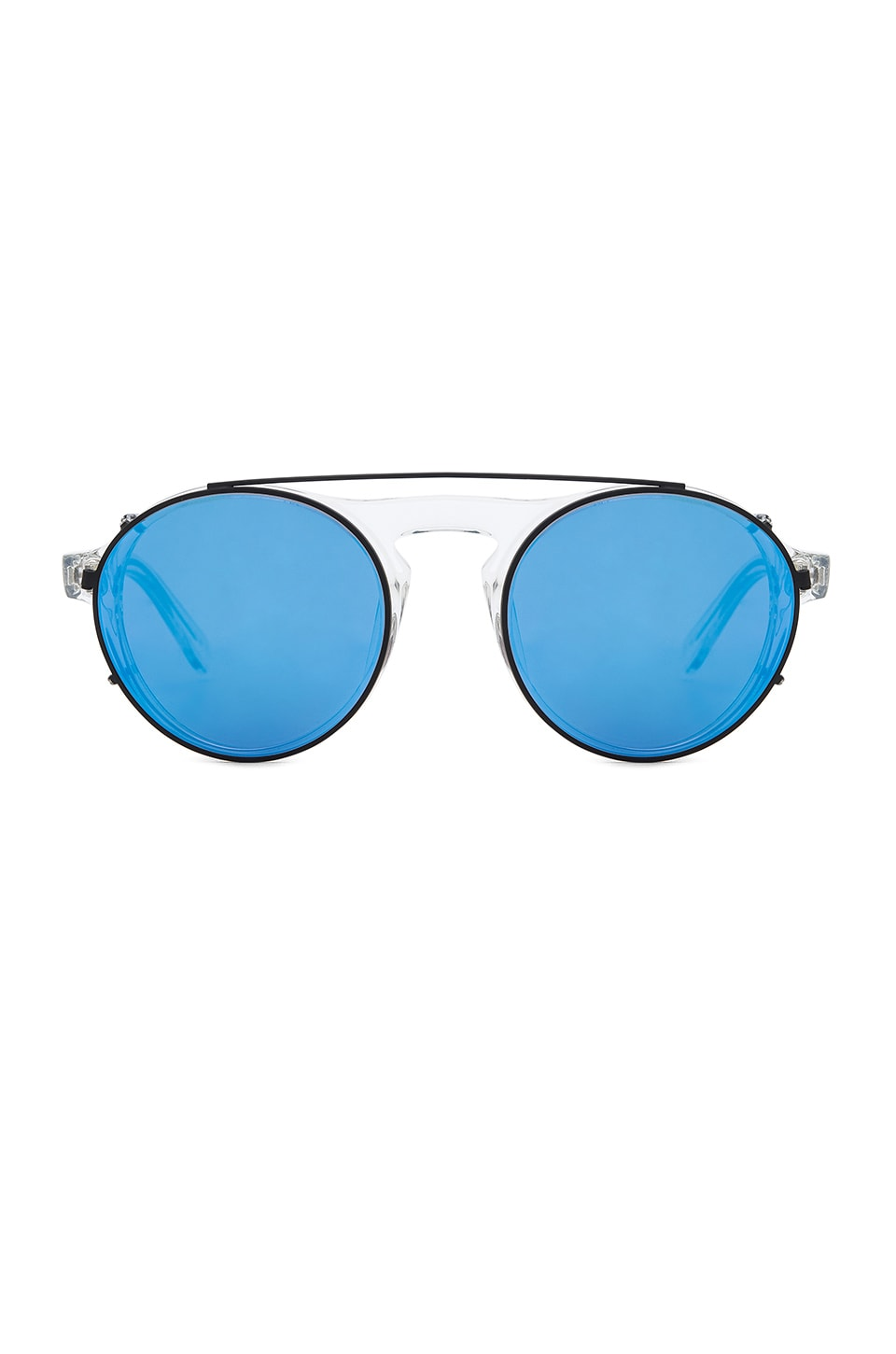 WESTWARD LEANING Dyad Sunglasses in Crystal Shiny Acetate