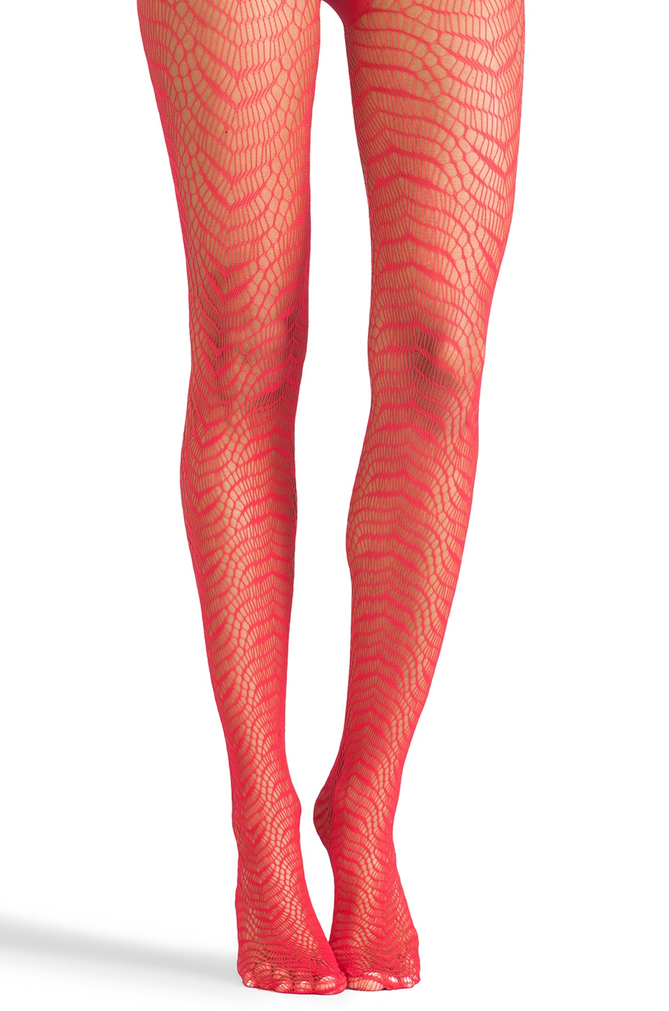 Wolford Adela Tights in Rose Red