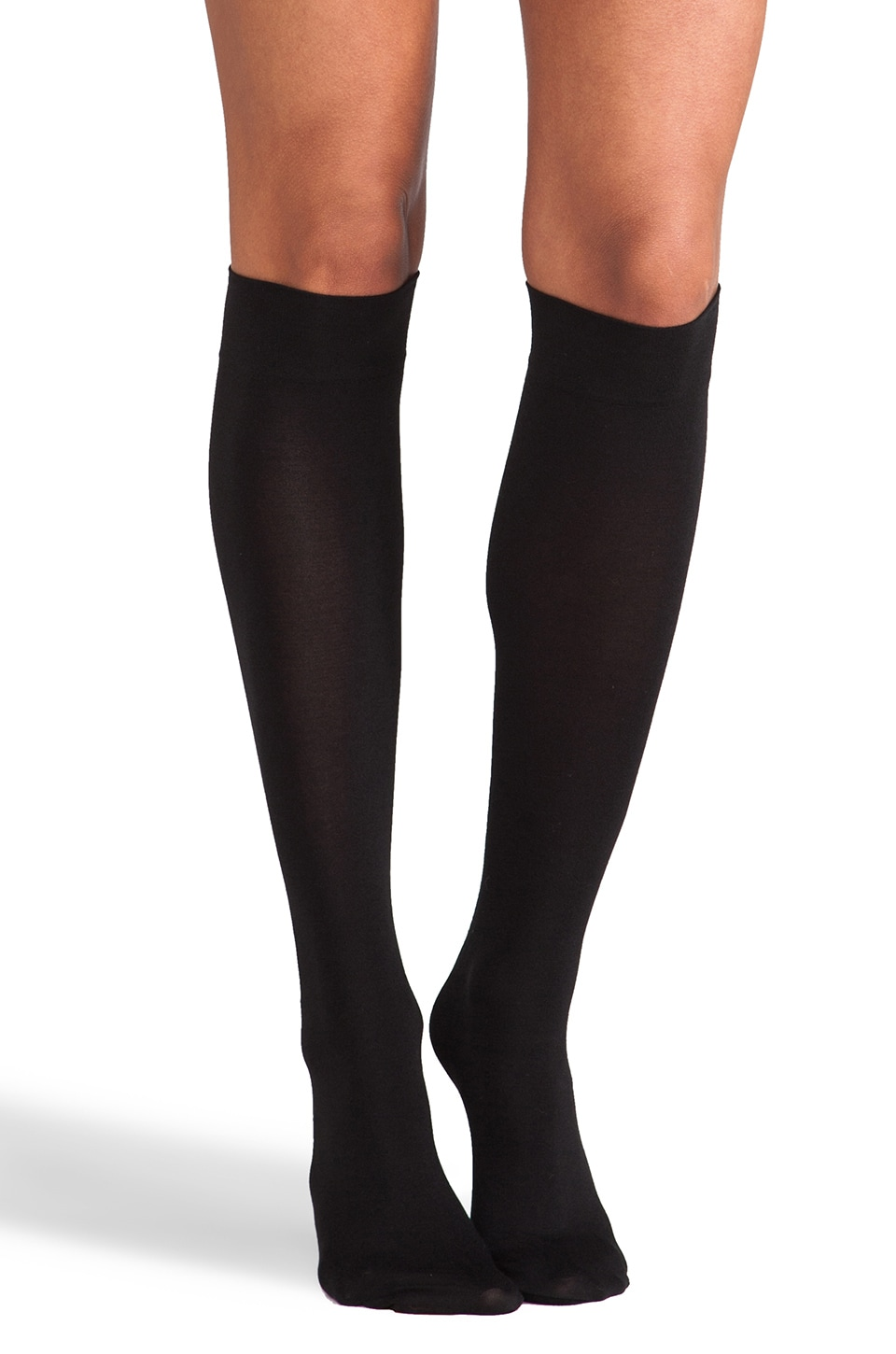 Wolford Cotton Velvet Knee-Highs in Black