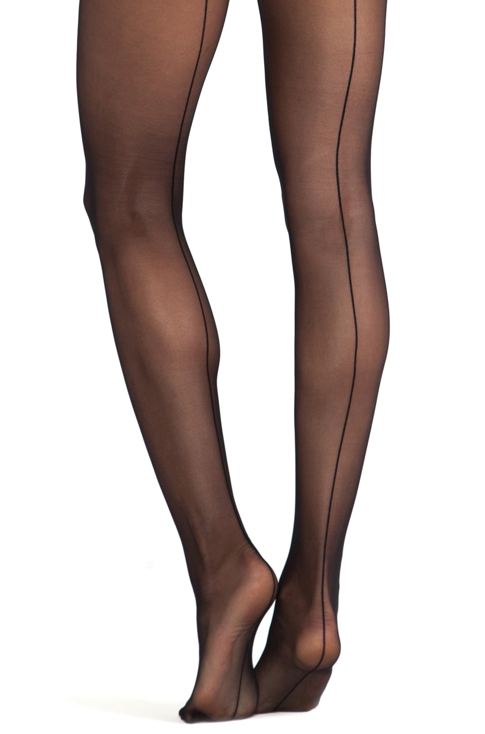 Wolford Individual 10 Back Seam Tights in Black