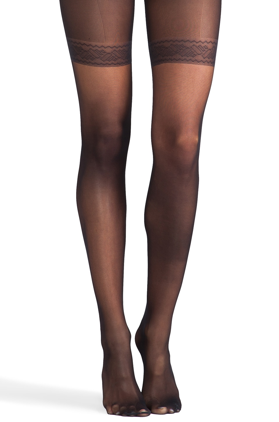 Wolford Individual 10 Complete Support Tights in Black