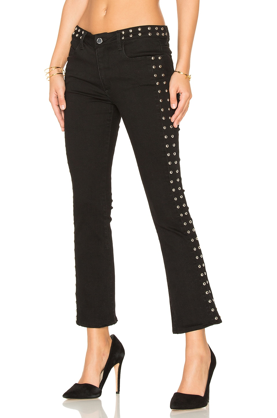 Mid Rise Stud Crop by Weslin + Grant