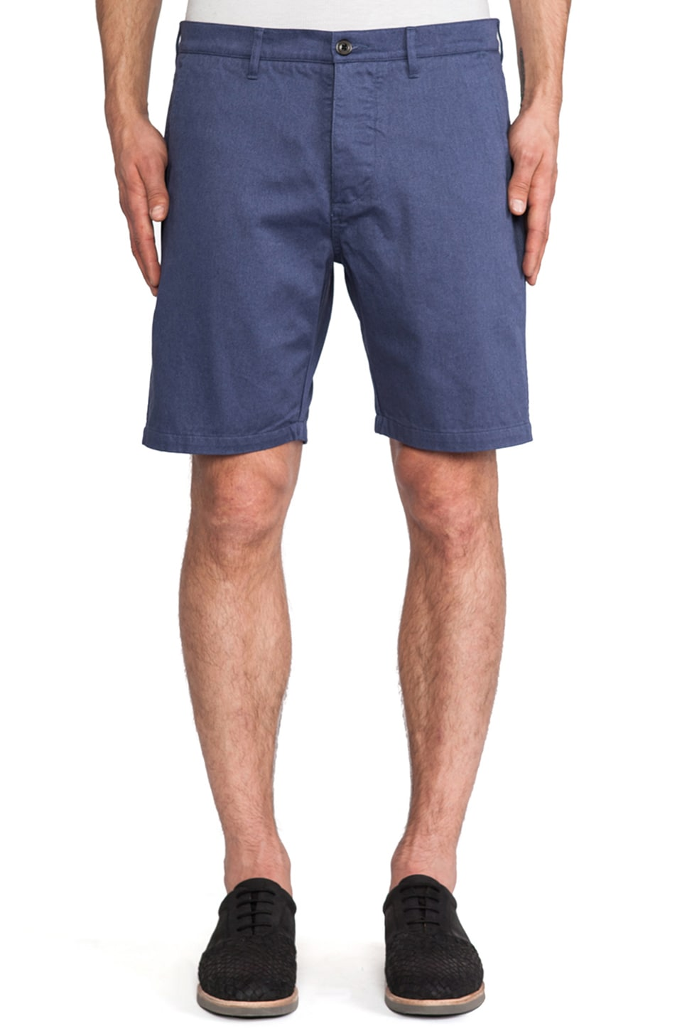 wings + horns Pigment Twill Short in Blue