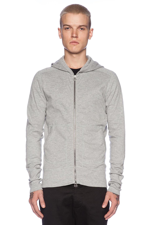 wings   horns Base Full Zip Hooded Sweater in Heather Grey | REVOLVE