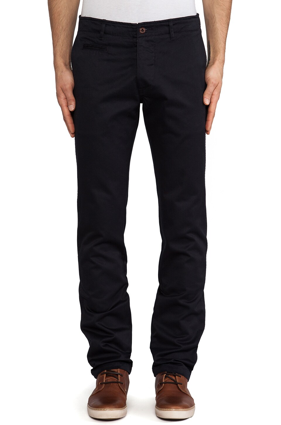 wings + horns Westpoint Twill Chino in Navy