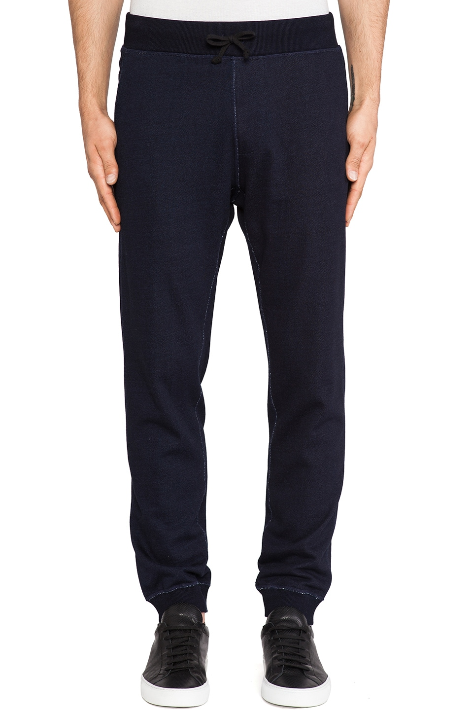 wings + horns Sashiko Print Lounge Pant in Indigo