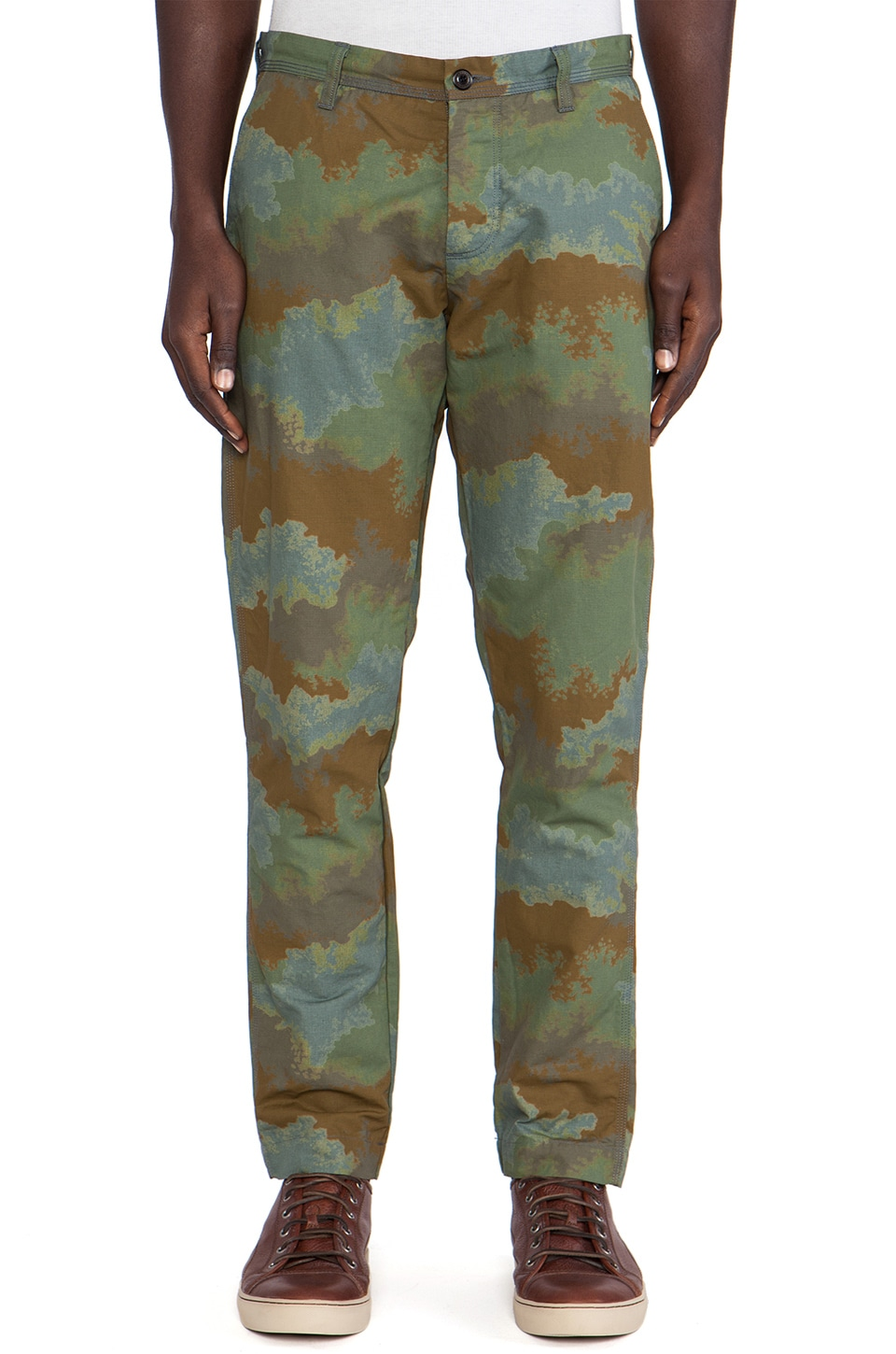 wings + horns Splash Camouflage Chino in Overdyed Charcoal