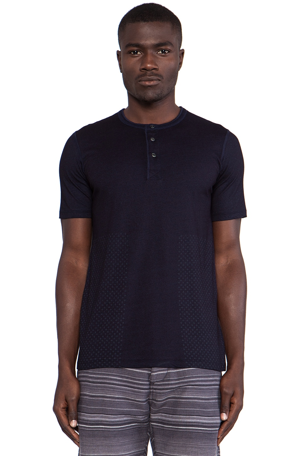 wings + horns Sashiko Print Tee in Indigo