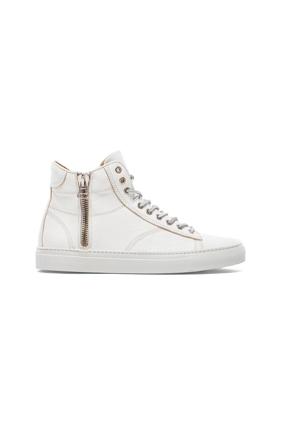 wings + horns Leather Hi-Top in White
