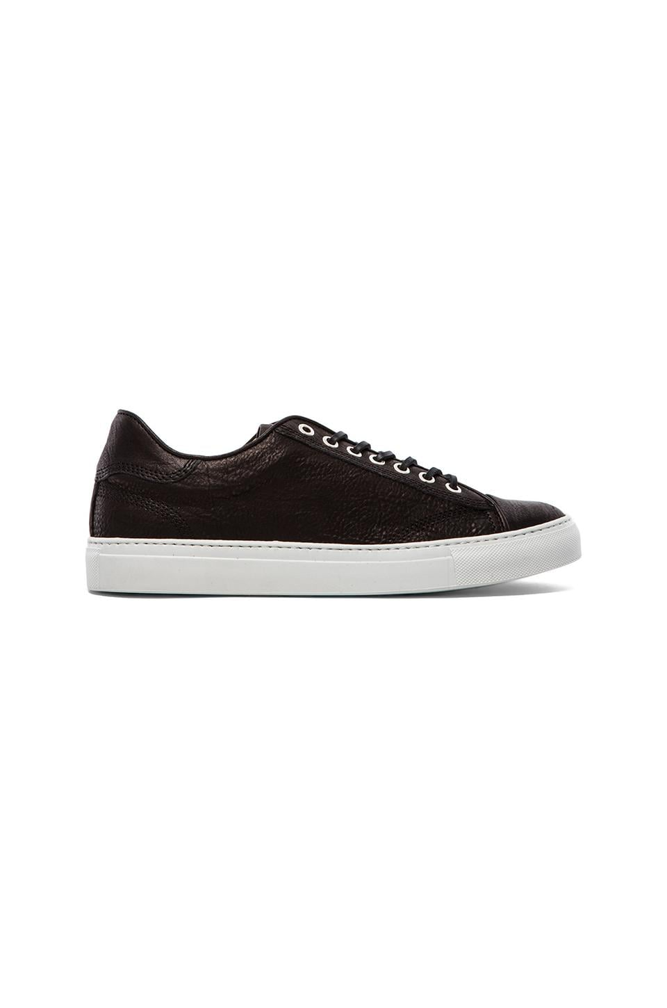 wings + horns Leather Low Top in Black & White