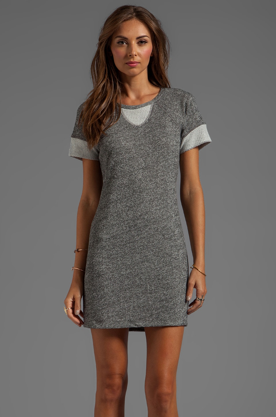 Whetherly Annie French Terry Dress in Charcoal