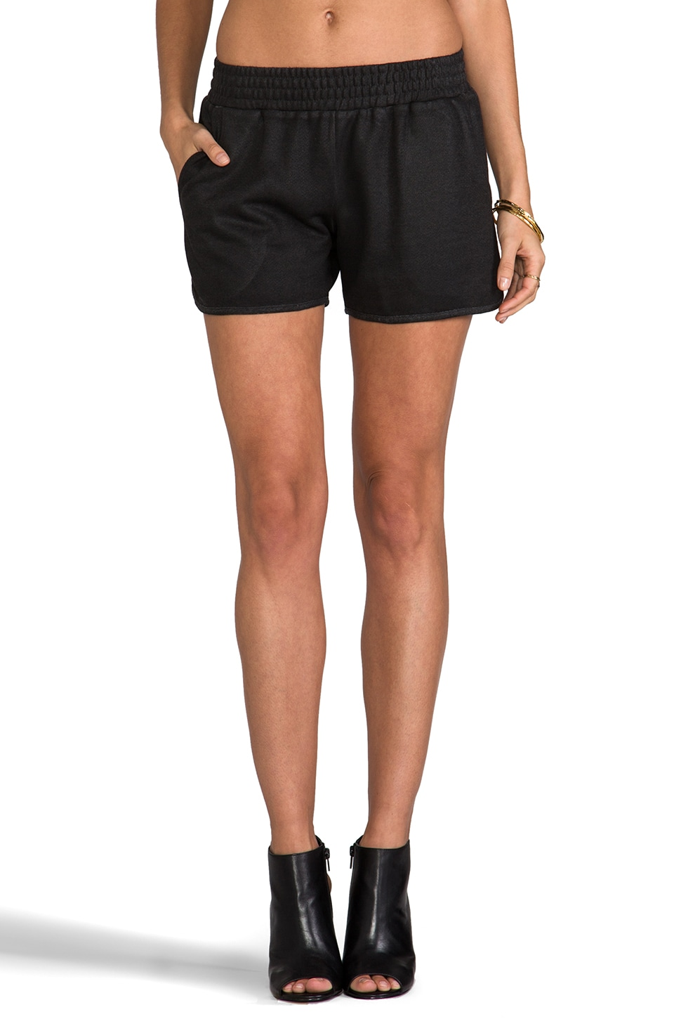 Whetherly Rita Coated Short in Black