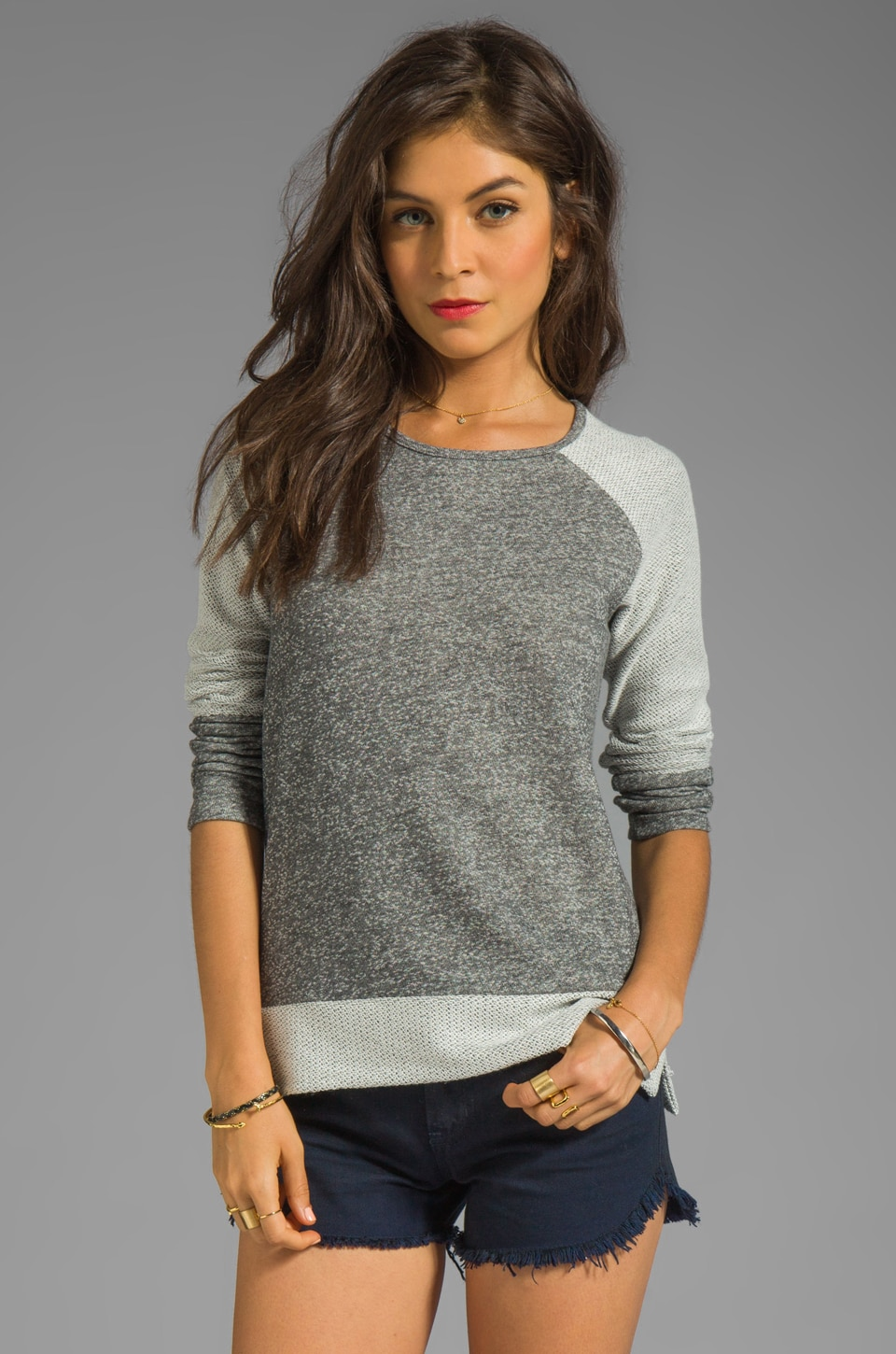 Whetherly Zuma French Terry Sweatshirt in Charcoal