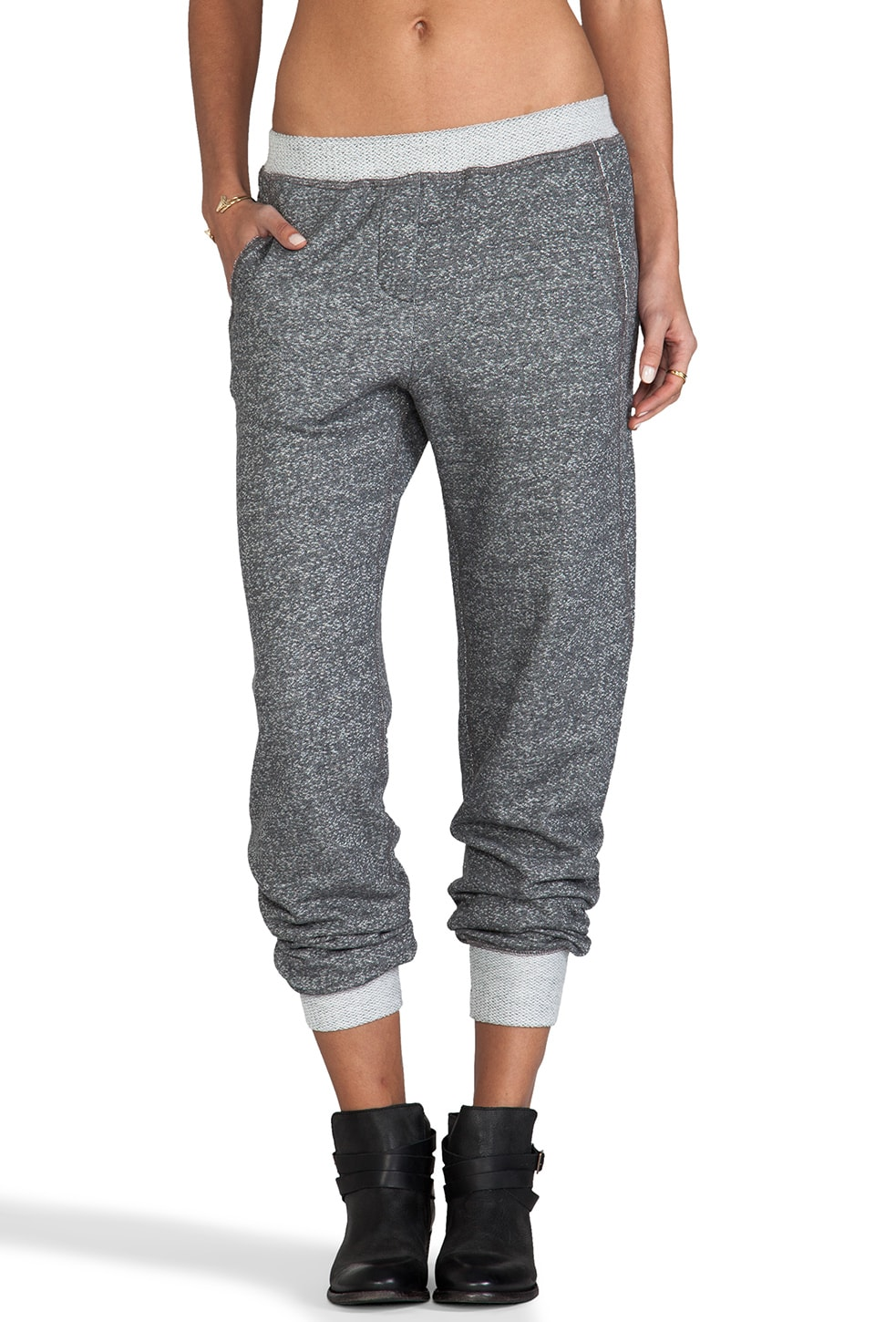 Whetherly French Terry Jackson Sweats in Charcoal