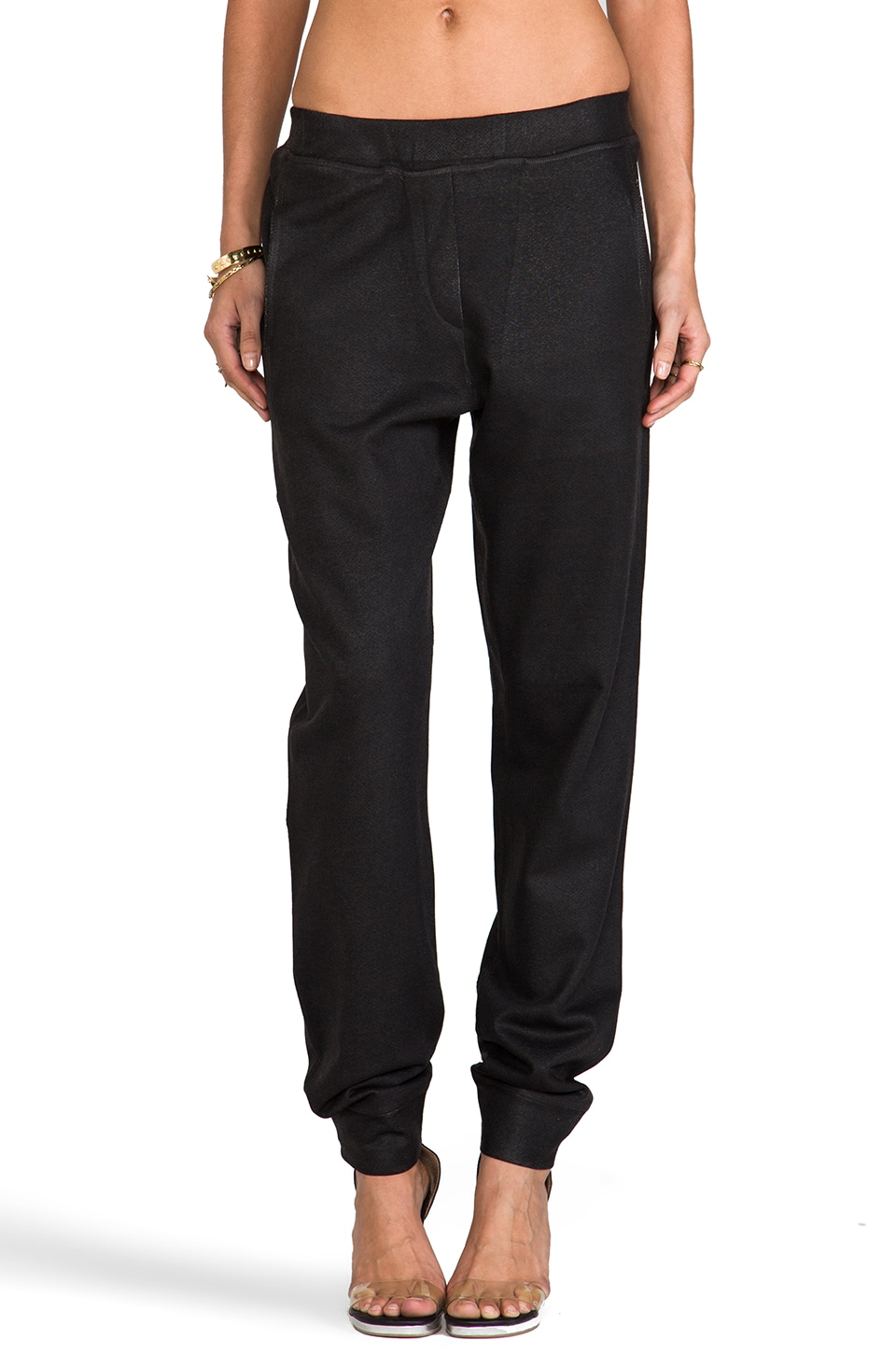 Whetherly Jackson Coated Pants in Black