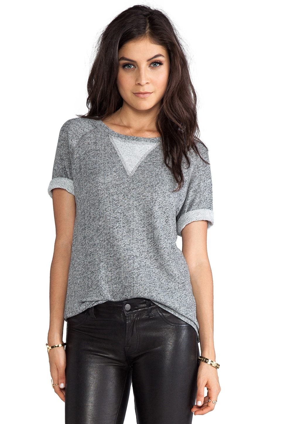 Whetherly French Terry Gia Tee in Charcoal