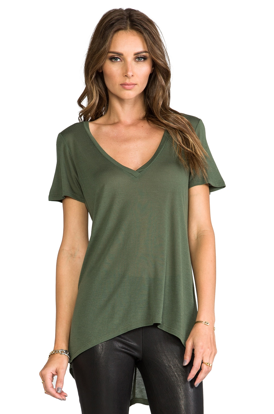 Whetherly Heavy Tissue Rachel Tee in Olive