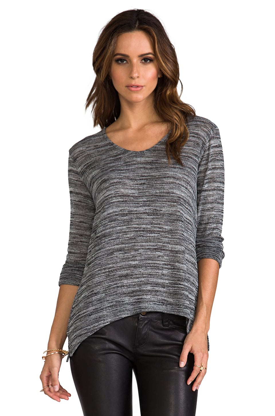 Whetherly Wolfgang Ezra Top in Black/Grey/White