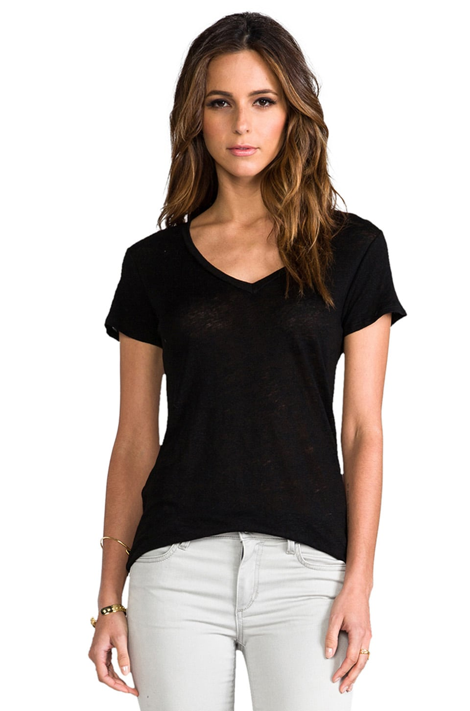 Whetherly Kate Short Sleeve Tee in Black