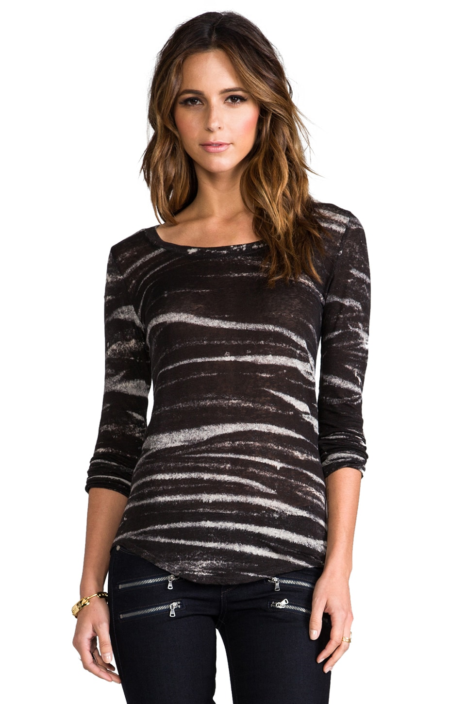 Whetherly Rosewood Long Sleeve Tee in Black