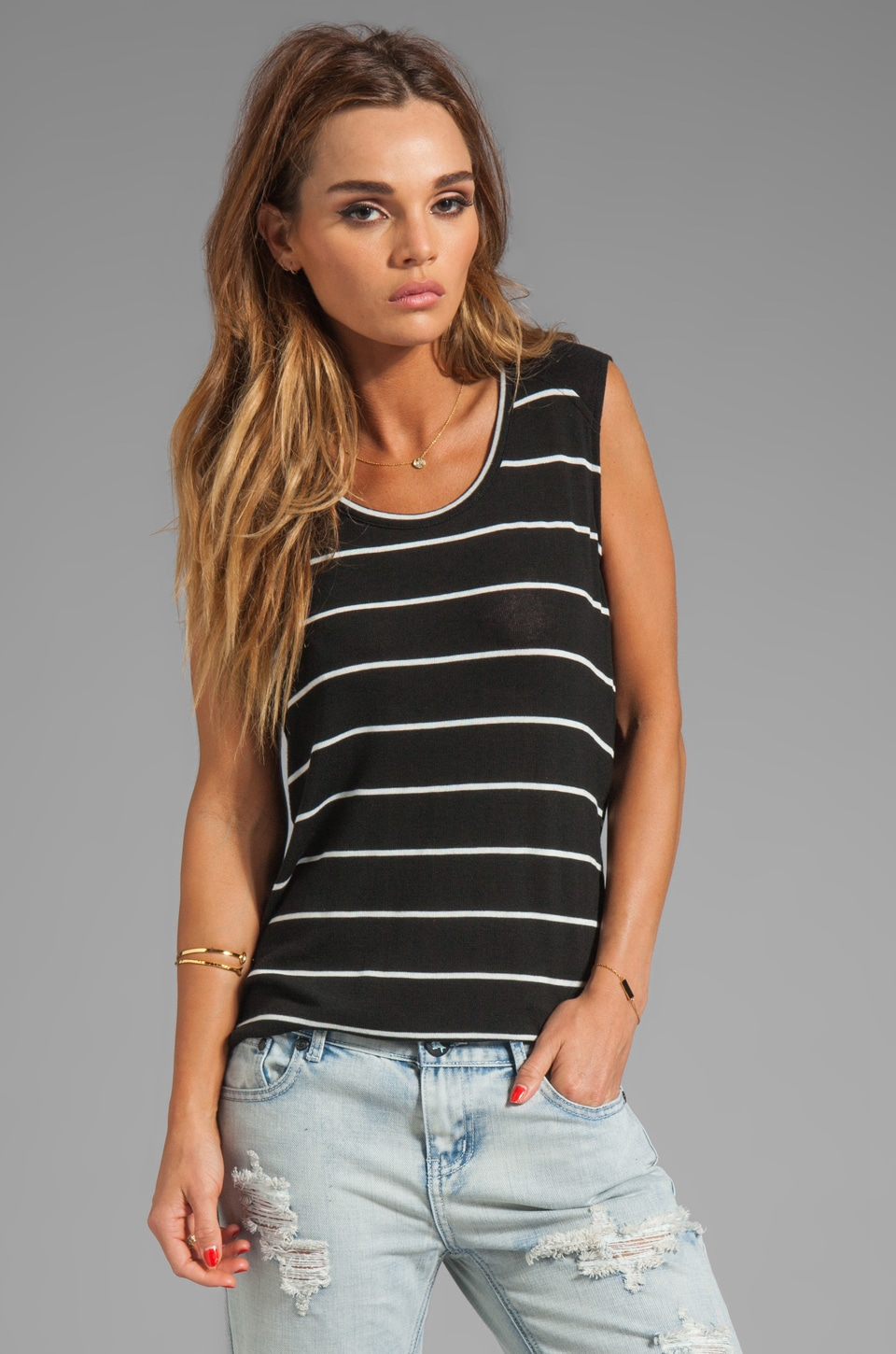 Whetherly Lizzie Stripe Top in Positive