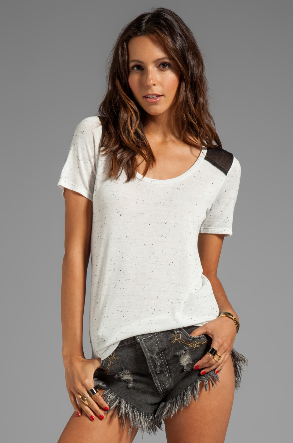 Whetherly Elliot Confetti Top in White/Black