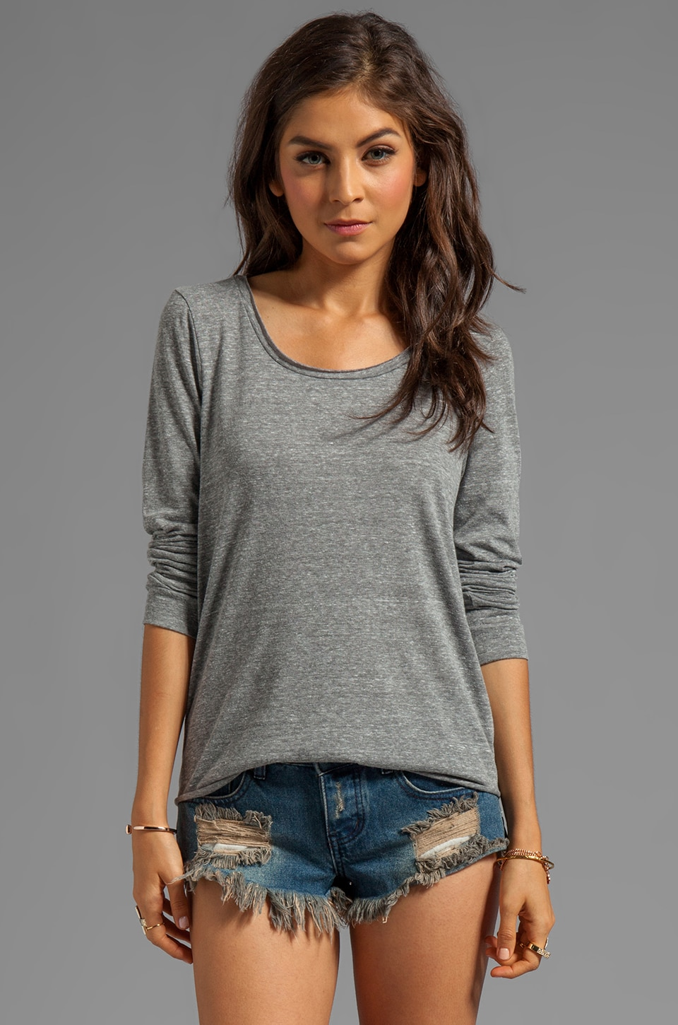 Whetherly Yummy Jersey Rosewood Long Sleeve in Pebble