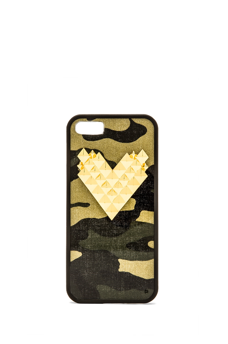 Wildflower Camo Iphone 5/5S Case in Gold Studded Heart