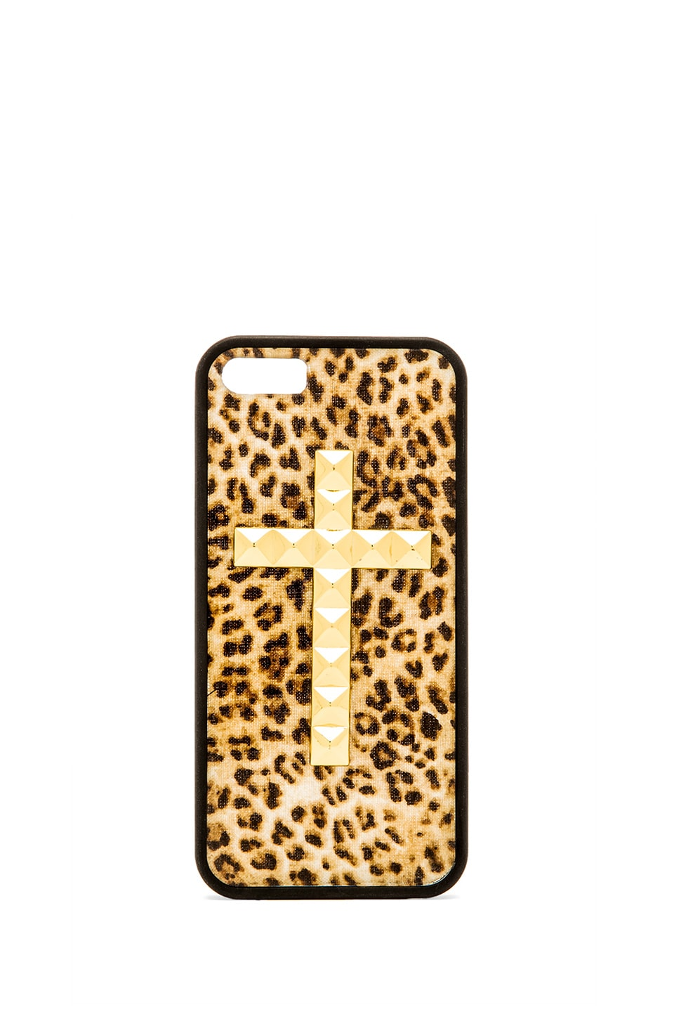Wildflower Leopard Iphone 5/5S Case in Gold Studded Cross