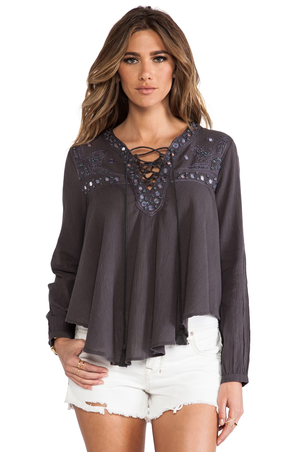wildheart Shanti Blouse in Grey