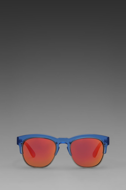 Wildfox Couture Club Fox Wayfare Sunglasses in Translucent Blue