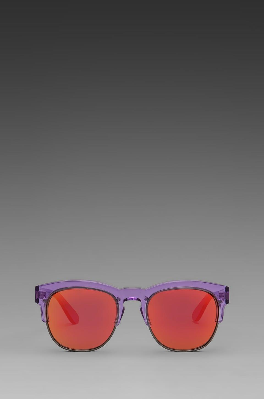 Wildfox Couture Club Fox Wayfare Sunglasses in Translucent Purple
