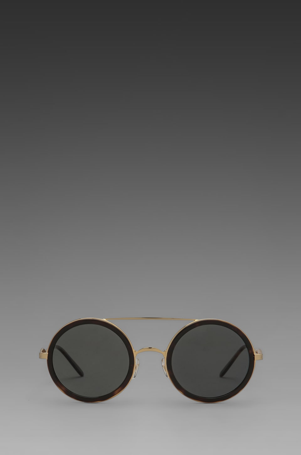 Wildfox Couture Winona Circle Frame Sunglasses in Gold w/ Tortoise