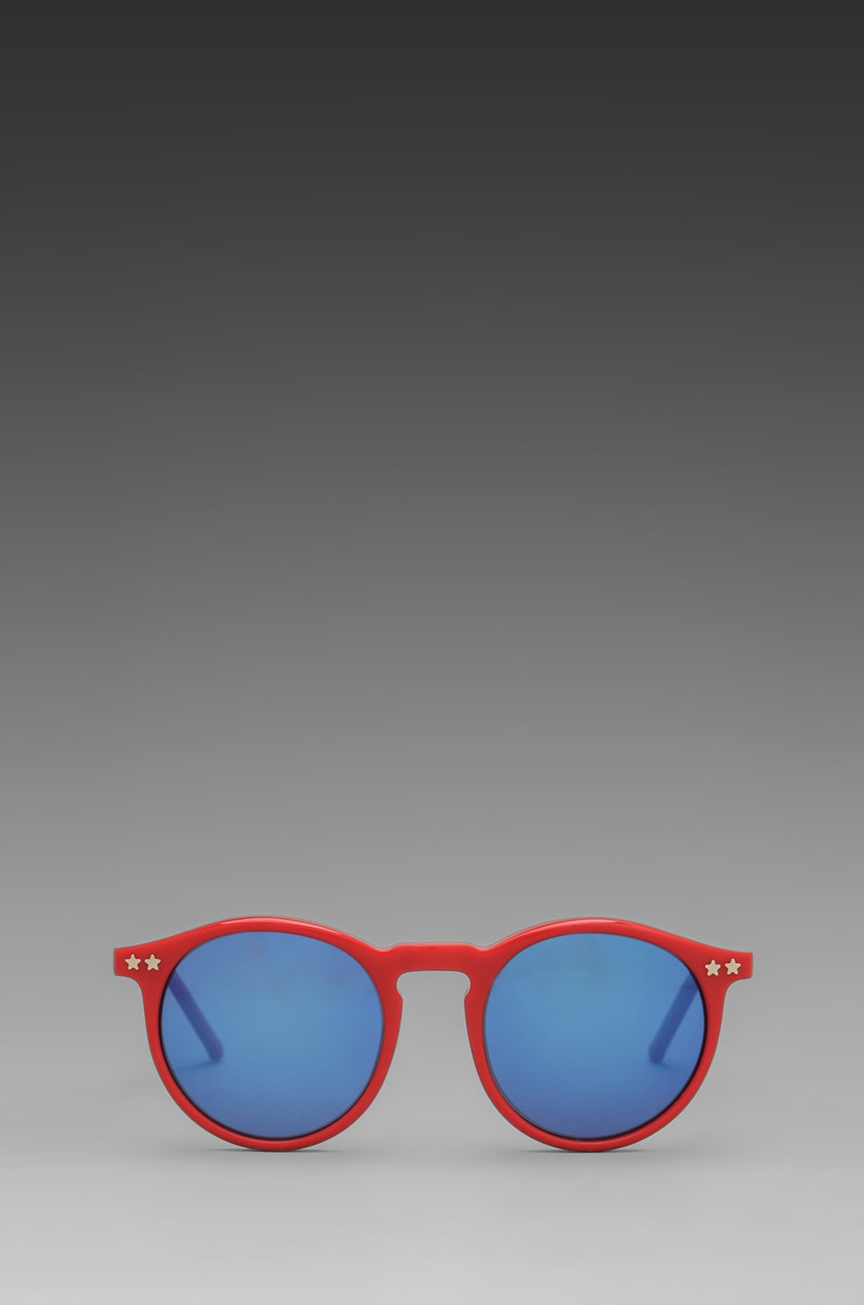Wildfox Couture Steff Panto Frame Sunglasses in Red/Blue Revo