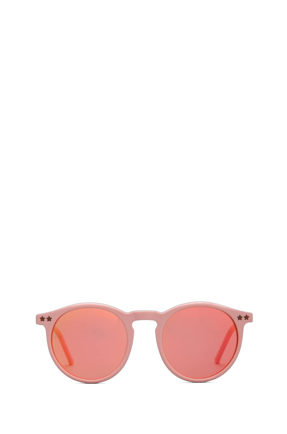 Wildfox Couture Steff Panto Frame Sunglasses in Pink/Pink Mirror