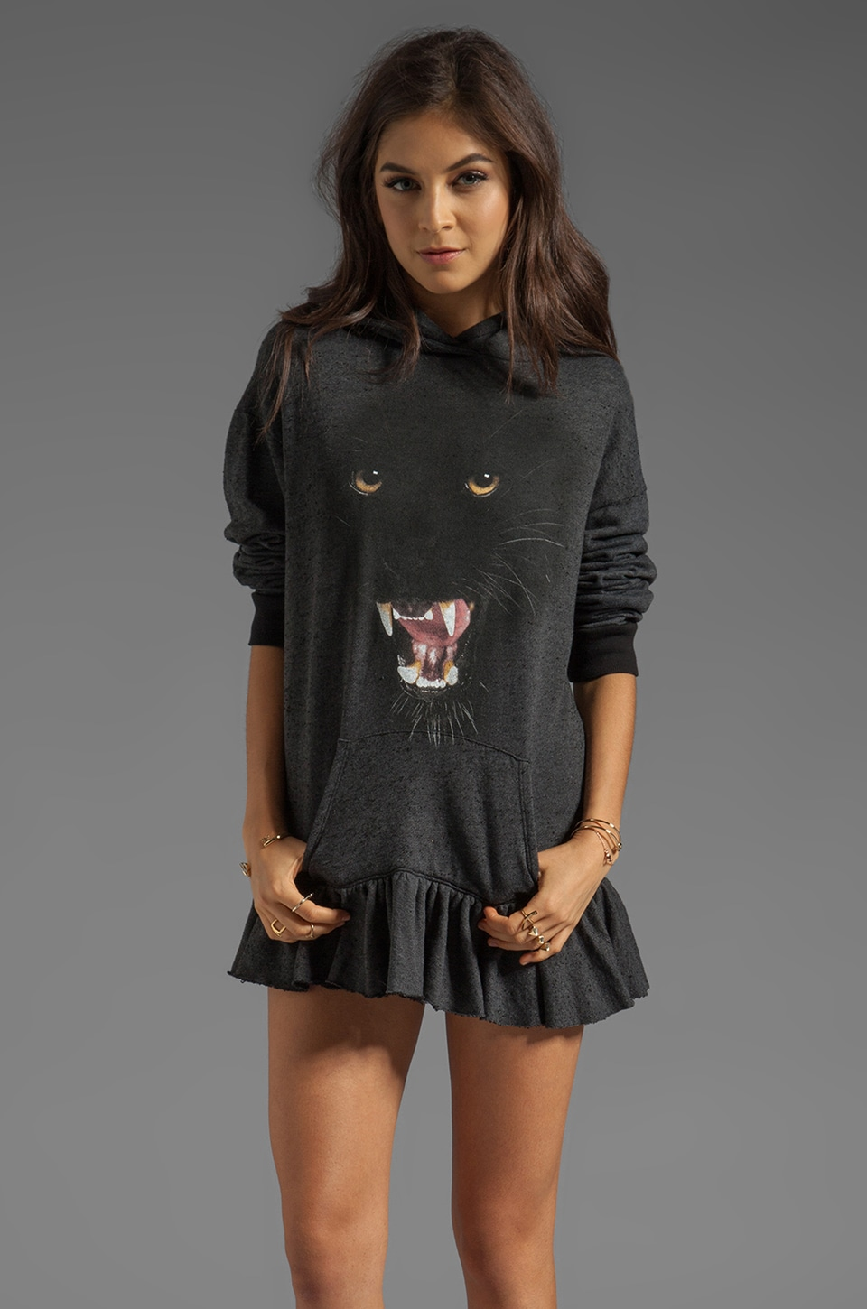 Wildfox Couture Bad Kitty Buchanan Dress in Clean Black