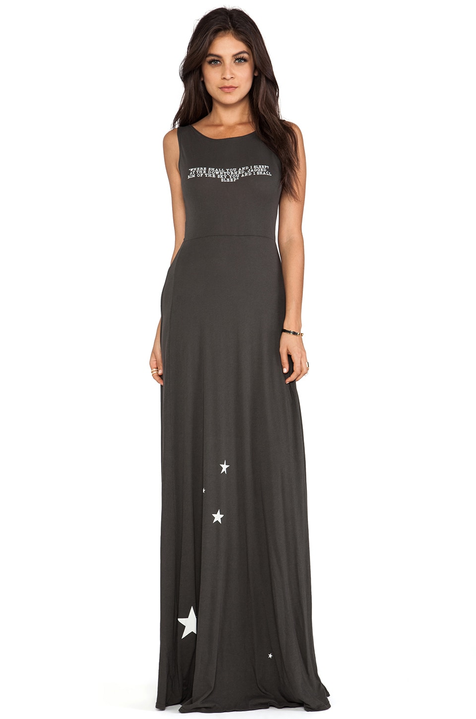 Wildfox Couture You And I Sleep Shipwrecked Maxi in Dirty Black