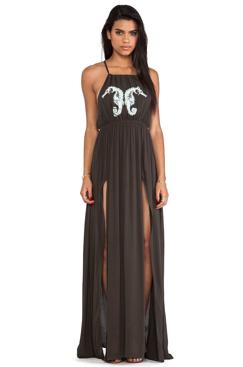 Wildfox Couture Seahorse Gigi Gown in Vintage Black