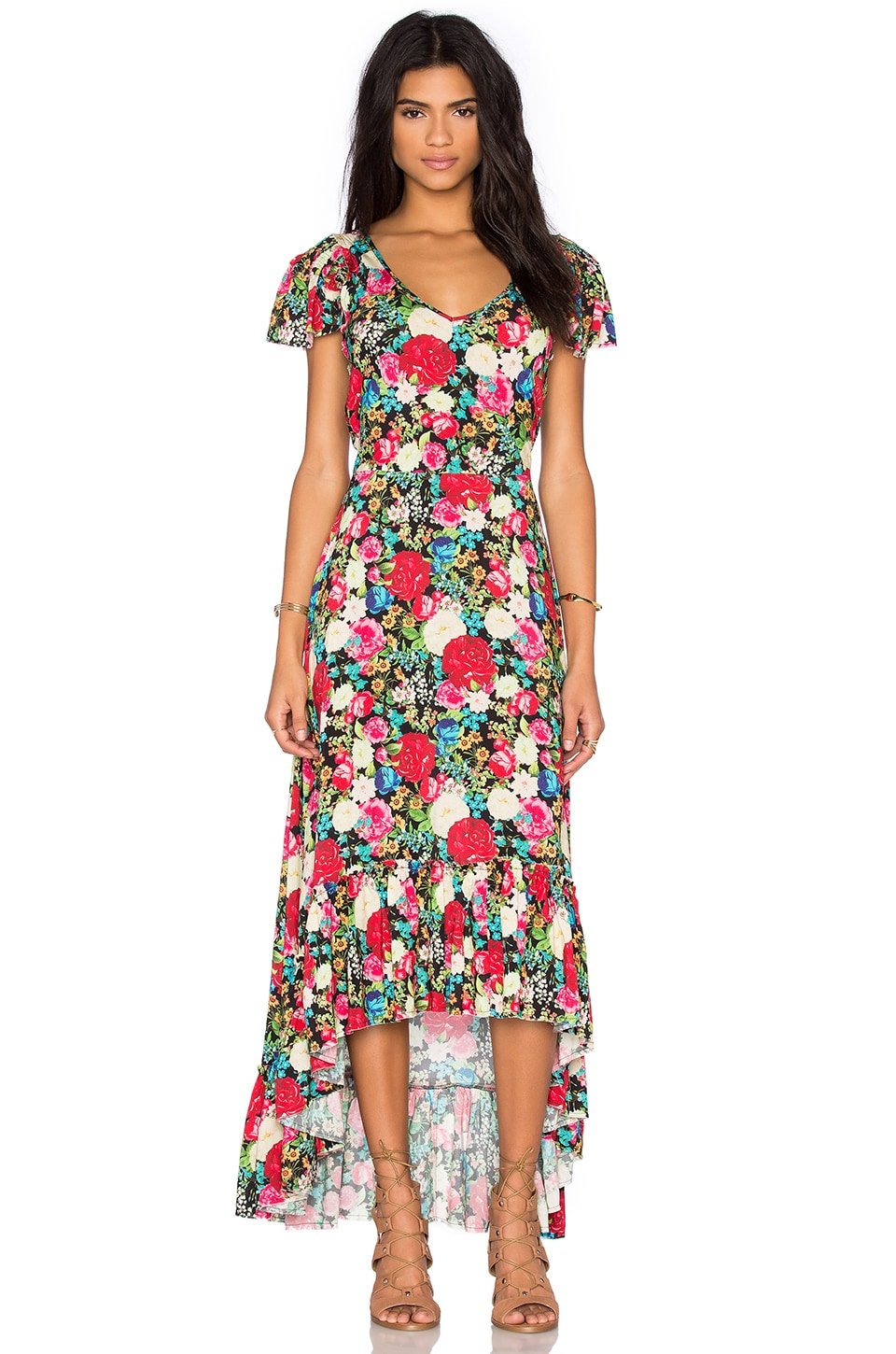 Wildfox Couture Floral Maxi Dress in Multi